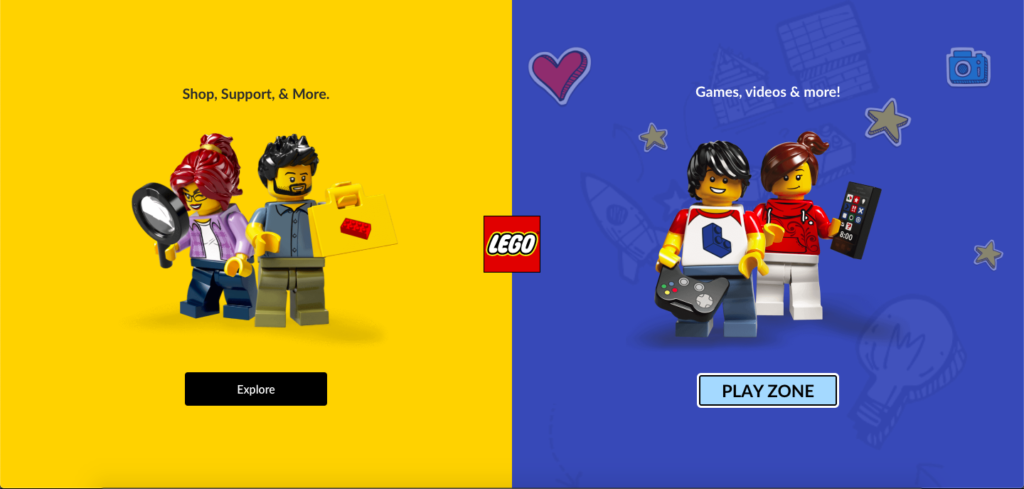 lego.com uk homepage