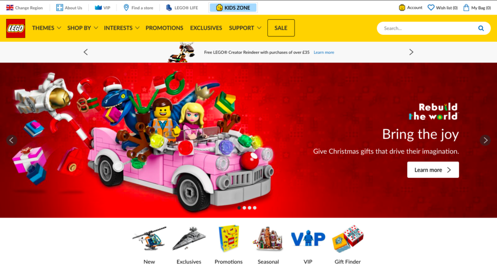 Fixing broken links - Lego UK homepage