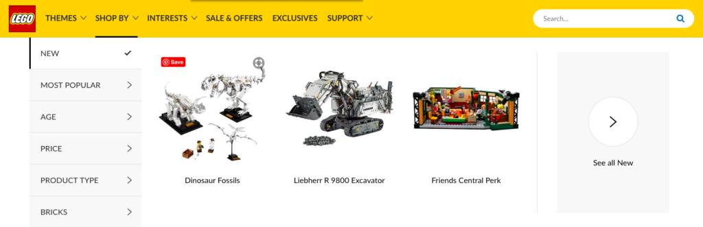 Fixing broken links on lego.com - Lego Dinosaur Fossils Link